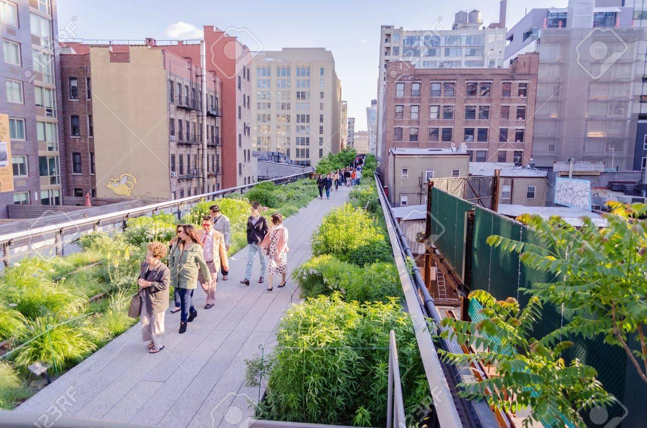 Le High Line Park, New York Banque d'images - 21210502