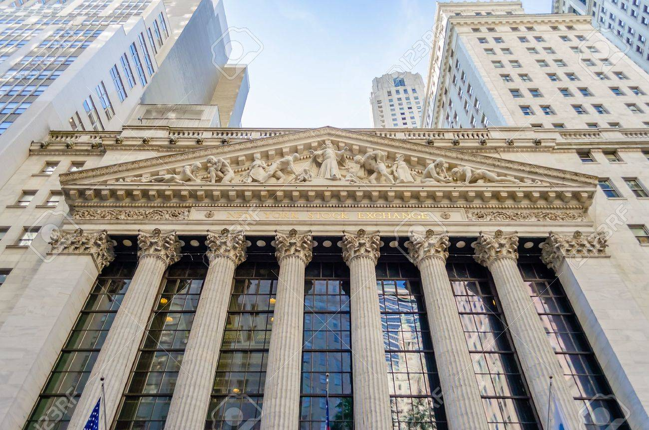 Wall Street, New York City Banque d'images - 21581327
