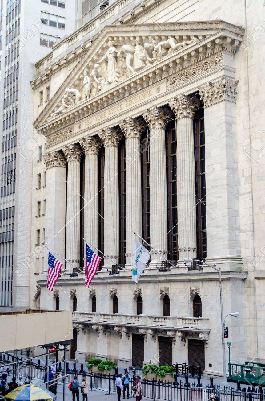 Wall Street, New York City Banque d'images - 21581339