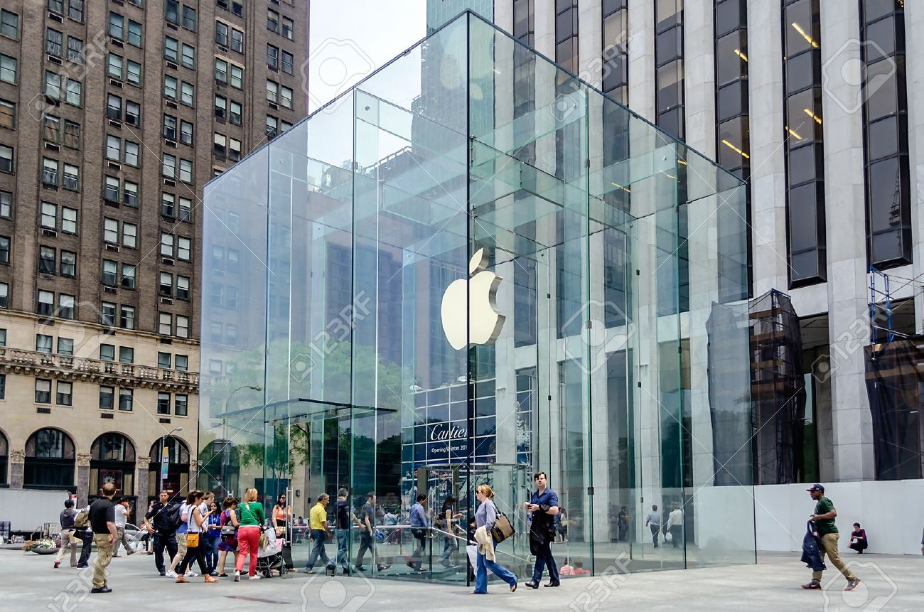 Apple Store Cube On 5th Avenue, New York Stock Photo, Picture And ...