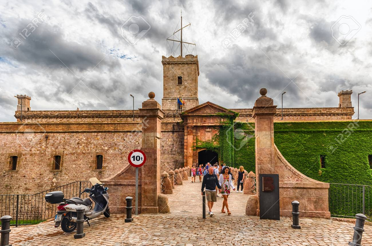 BARCELONA   AUGUST 11: Main Entrance To The Castle Of Montjuic, An Old  Military Great Ideas