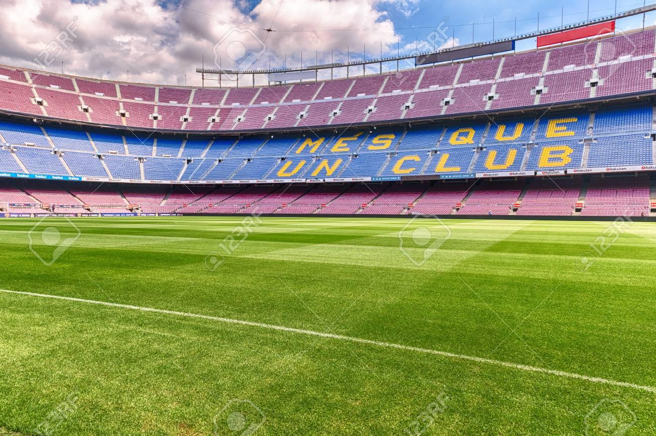 BARCELONA - AUGUST 11  Interior View Of Camp Nou Stadium ea3c9903eb9