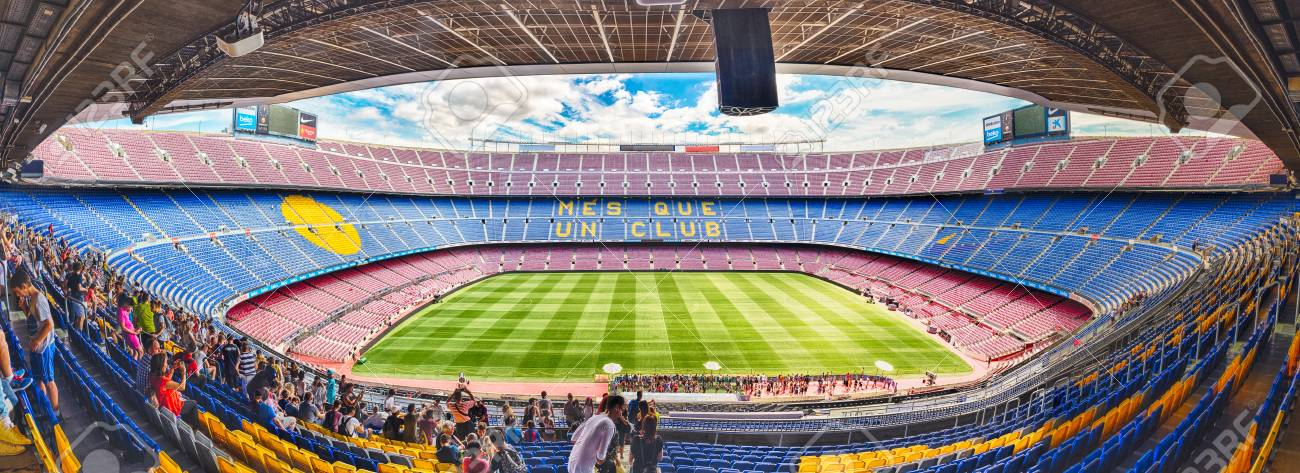 barcelona august 11 panoramic interior view of camp nou stadium stock photo picture and royalty free image image 90288607 barcelona august 11 panoramic interior view of camp nou stadium stock photo picture and royalty free image image 90288607