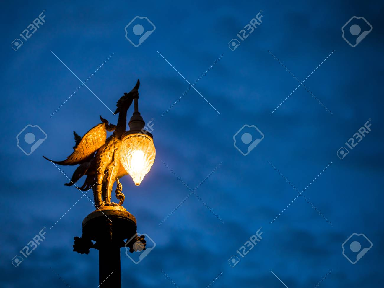 On Bird Lamp Time Dusk