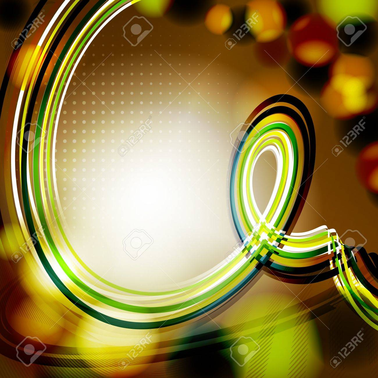 Abstract Dark Color Background With Curl At Spotlight Vector