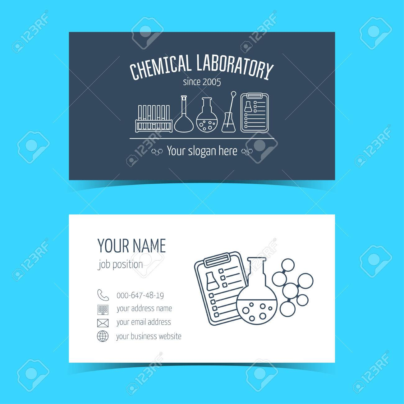 Business Cards For Chemical Laboratory And Scientific Companies ...