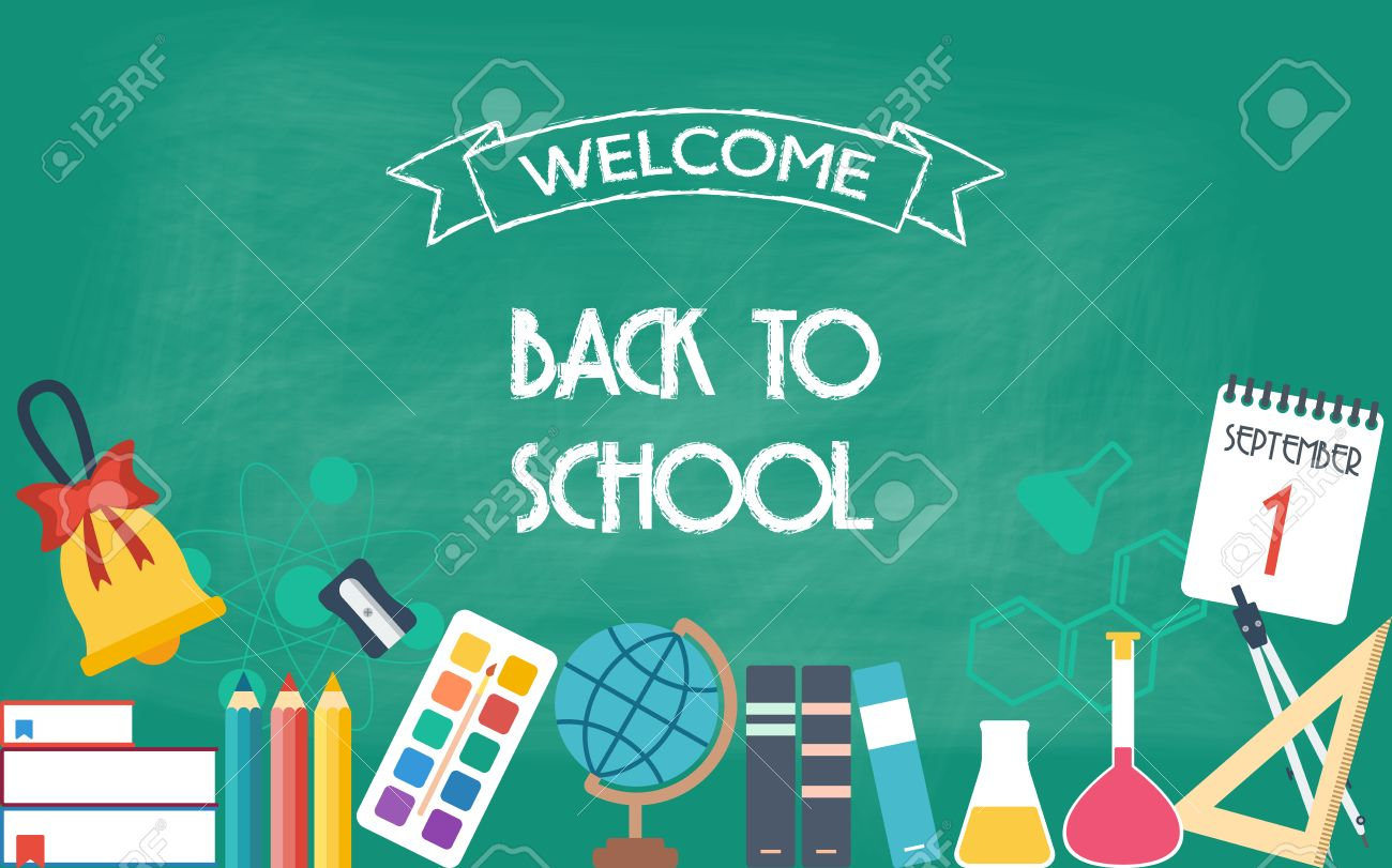 Horizontal Banner Background Poster From The School And Education Royalty Free Cliparts Vectors And Stock Illustration Image 46365115