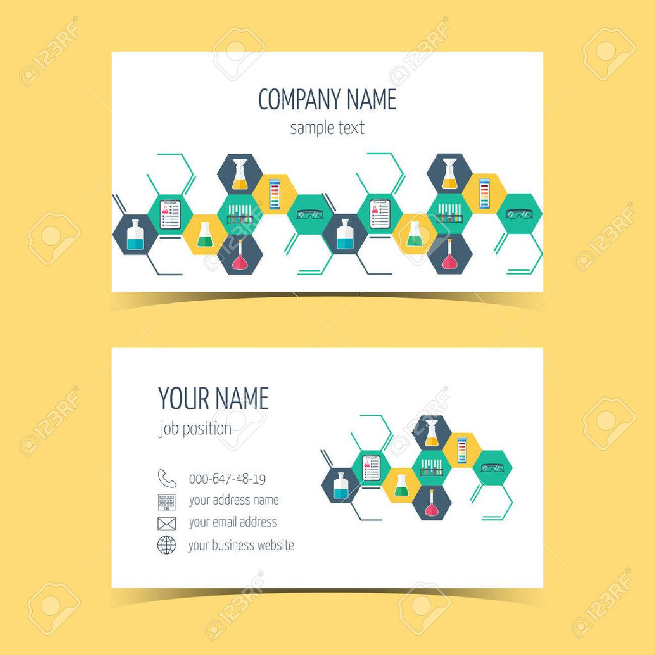 Business cards for chemical and scientific companies promotional business cards for chemical and scientific companies promotional products vector illustration stock vector colourmoves