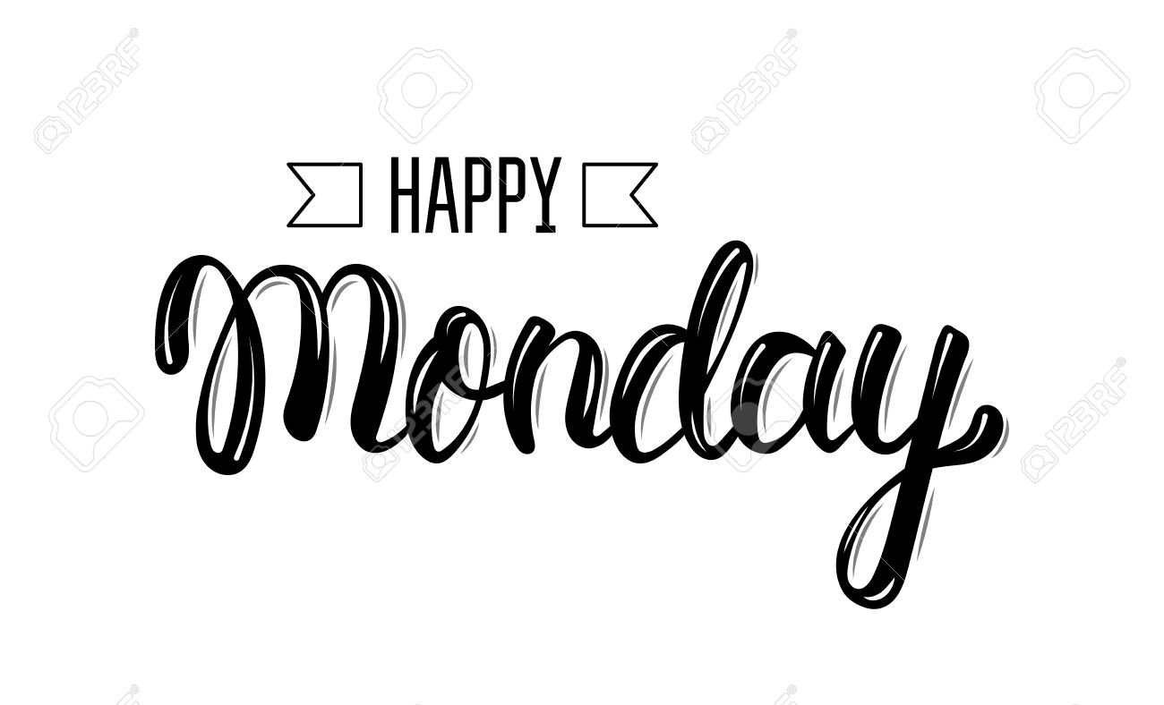 Happy monday trendy hand lettering quote fashion graphics happy monday trendy hand lettering quote fashion graphics art print for posters and m4hsunfo