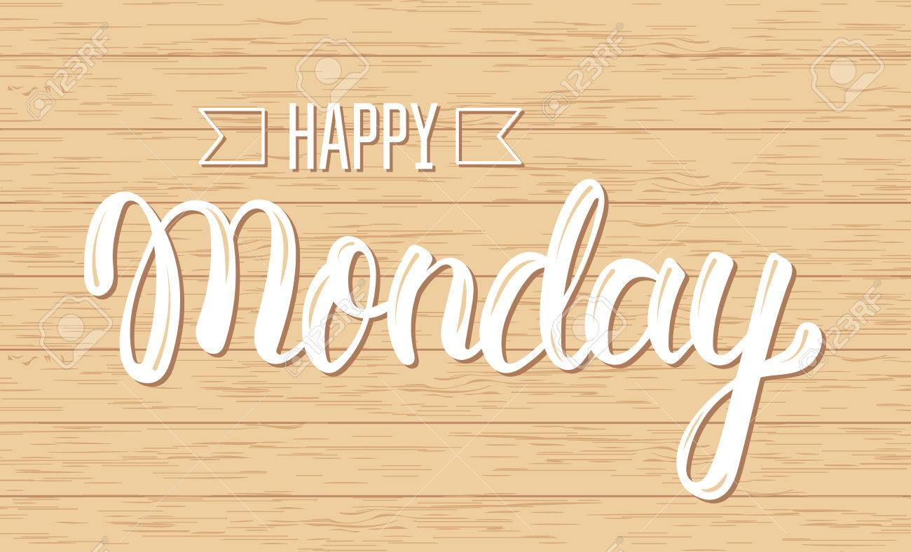 Happy monday trendy handwritten quote fashion graphics art happy monday trendy handwritten quote fashion graphics art print for posters and greeting m4hsunfo Image collections