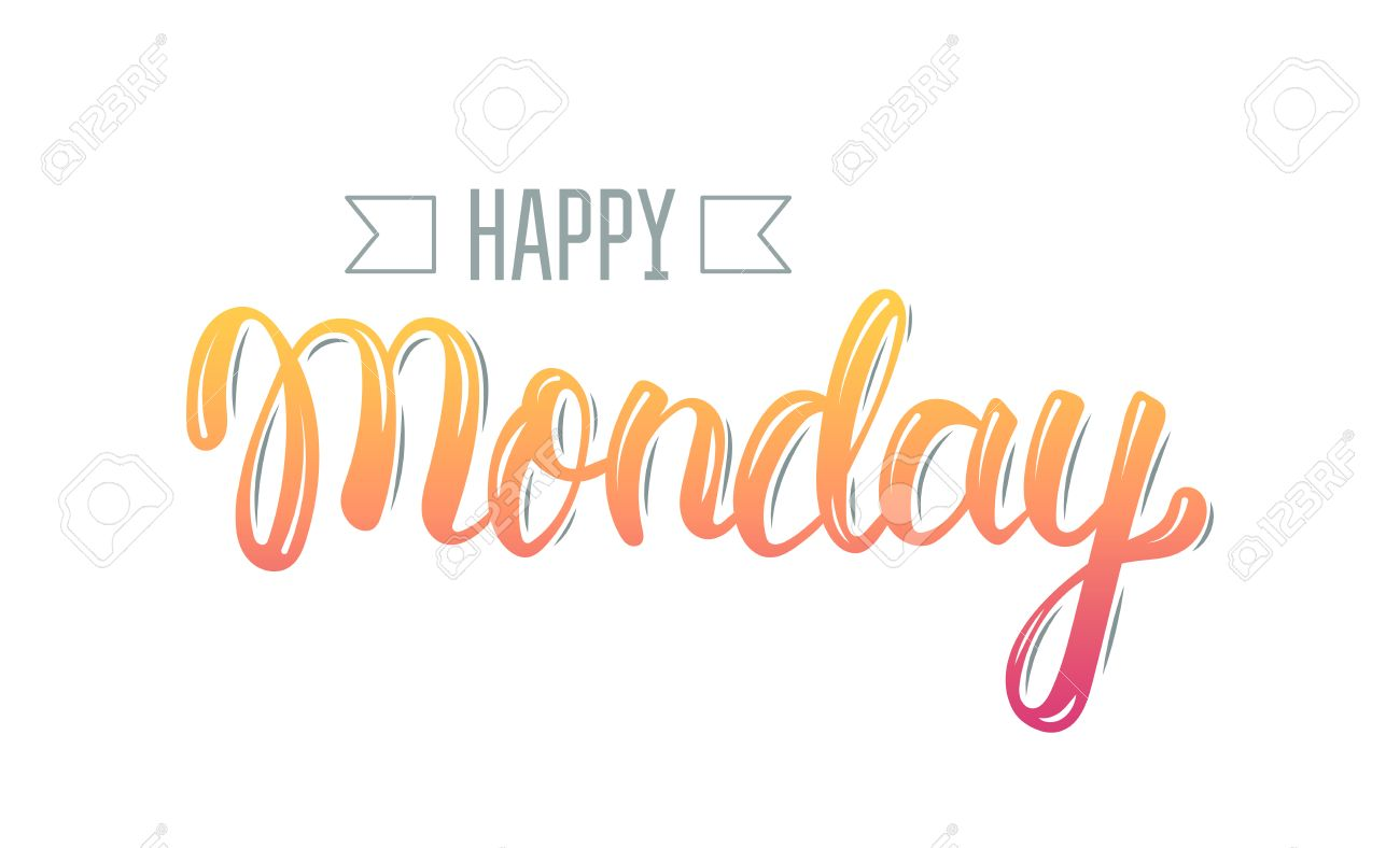 Happy monday trendy hand lettering quote fashion graphics happy monday trendy hand lettering quote fashion graphics art print for posters and m4hsunfo Image collections
