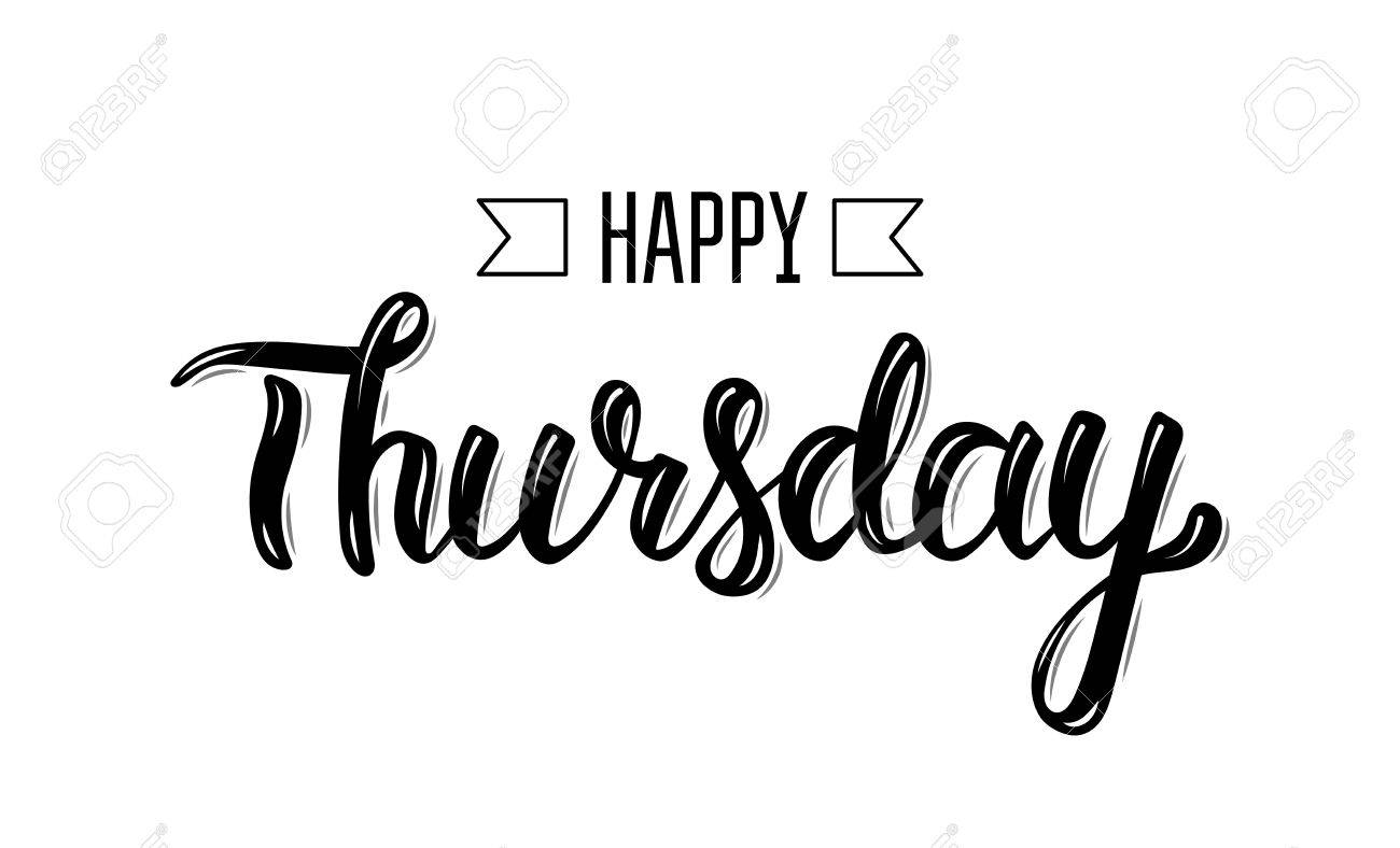 Happy thursday trendy hand lettering quote fashion graphics happy thursday trendy hand lettering quote fashion graphics art print for posters and m4hsunfo