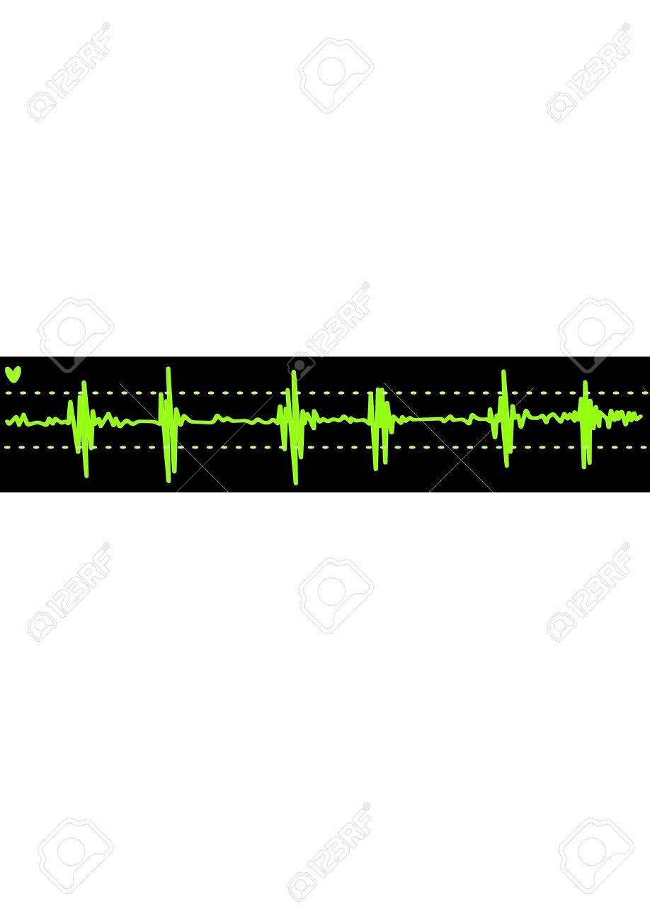 cardiogram. Background Vector Illustration Stock Vector - 5198322