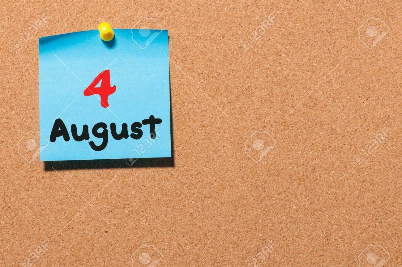 Immagini Stock - 4 Agosto. 4 ° Giorno Del Mese Di Calendario ...