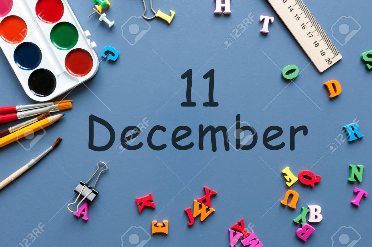 11 Decembre Jour 11 Du Mois De Decembre Calendrier Sur Fond De