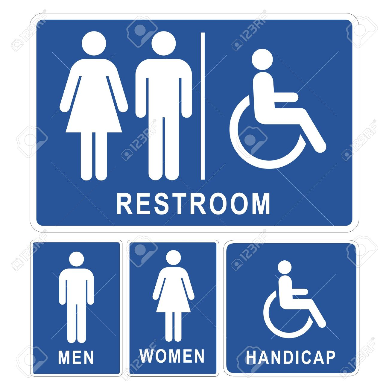 Bathroom Sign Vector Free Download restroom sign royalty free cliparts, vectors, and stock