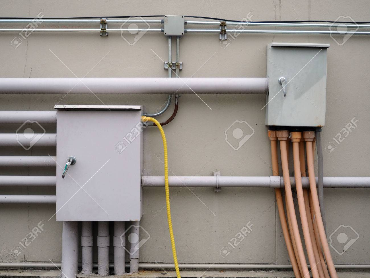 Electrical Wiring Box Connection Diagrams Home Junction With Galvanized Conduit Pipe Panel
