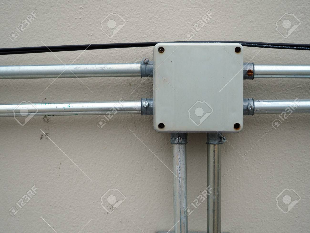 electrical junction box with galvanized conduit pipe connection & Electrical Junction Box With Galvanized Conduit Pipe Connection ... Aboutintivar.Com