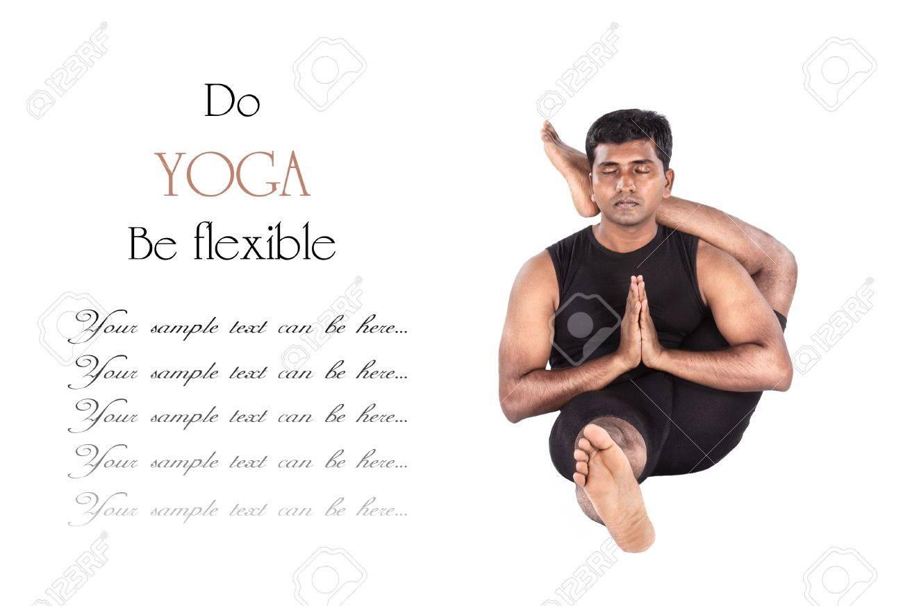 Yoga Eka Pada Shirshasana Pies Detrás De La Cabeza Representan Por ...