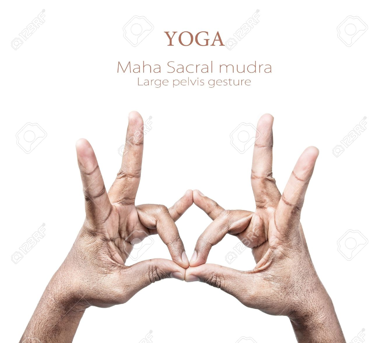 Hands in maha sacral mudra by Indian man isolated on white background. Free space for your text Stock Photo - 14725874