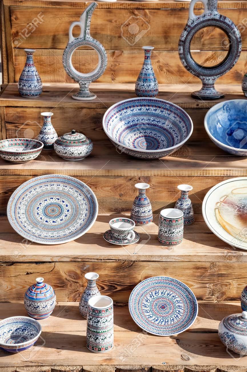 Ceramic Turkish pot plates and cup at Goreme market in Cappadocia Turkey Stock Photo & Ceramic Turkish Pot Plates And Cup At Goreme Market In Cappadocia ...