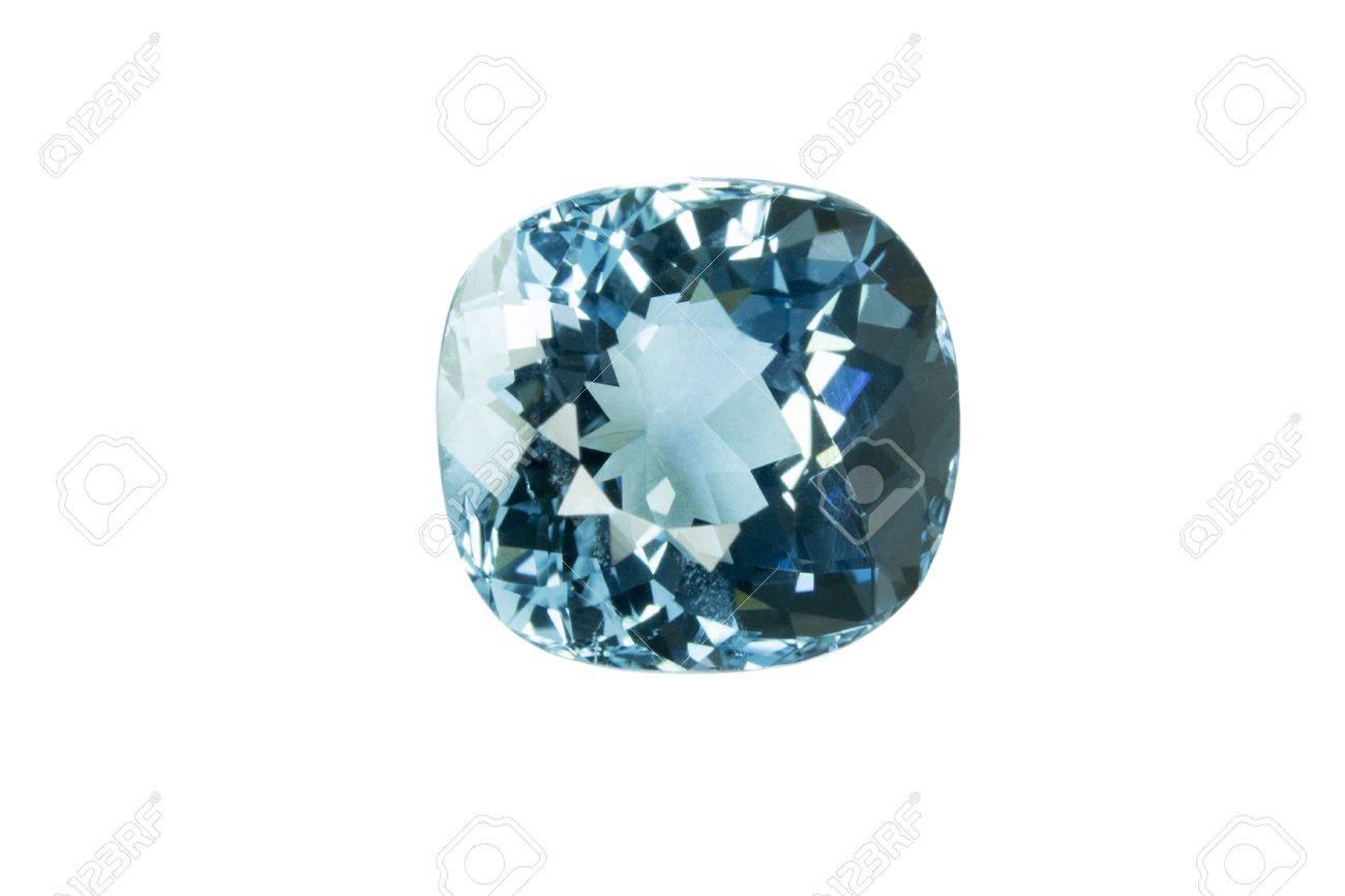 Blue topaz isolated on white background Stock Photo - 18013908