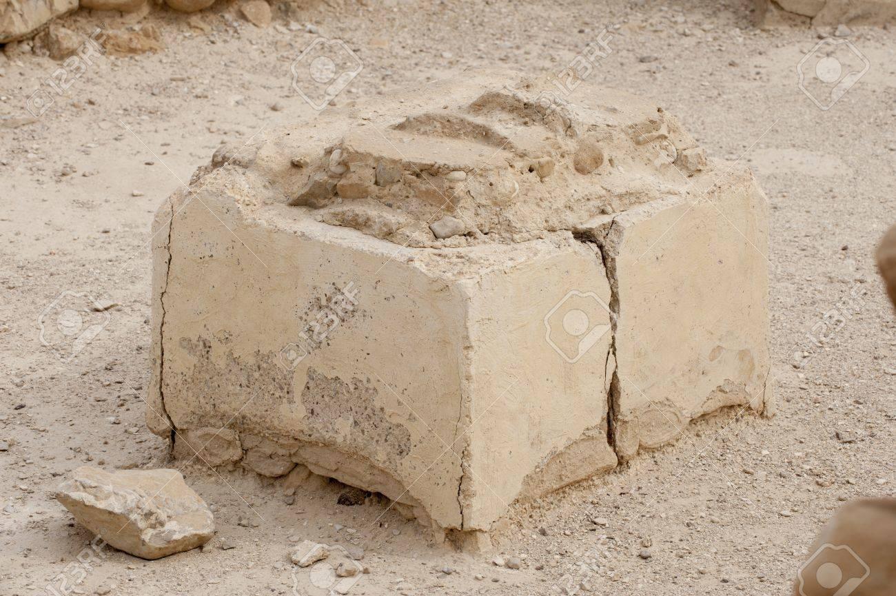 Close up of ruins at Qumran caves in Israel Stock Photo - 19218618