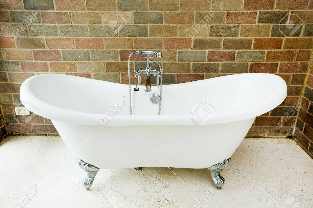 Classic Bathroom With Old Bathtub Stock Photo, Picture And Royalty ...