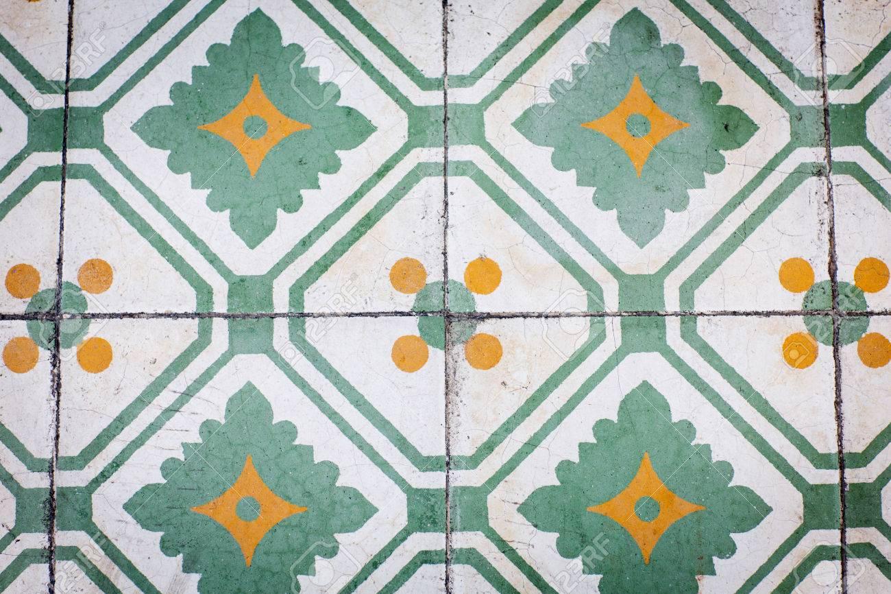Classic Ceramic Floor Tiles Closeup Texture Stock Photo Picture And