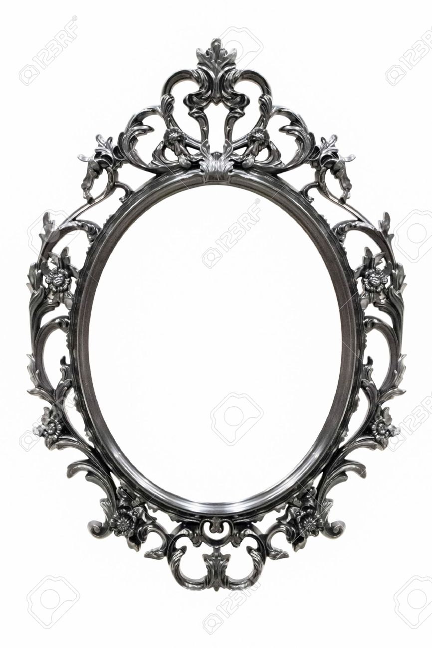 Black Vintage Frame Isolated On White Background Stock Photo