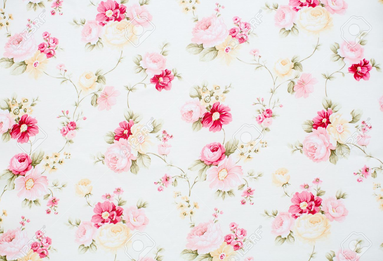 Vintage Floral Fabric Stock Photo Picture And Royalty Free Image
