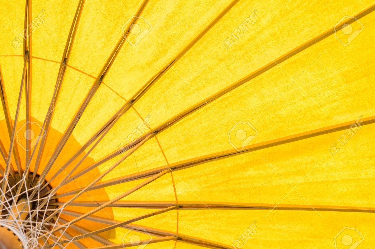 yellow umbrella background Stock Photo - 38508914