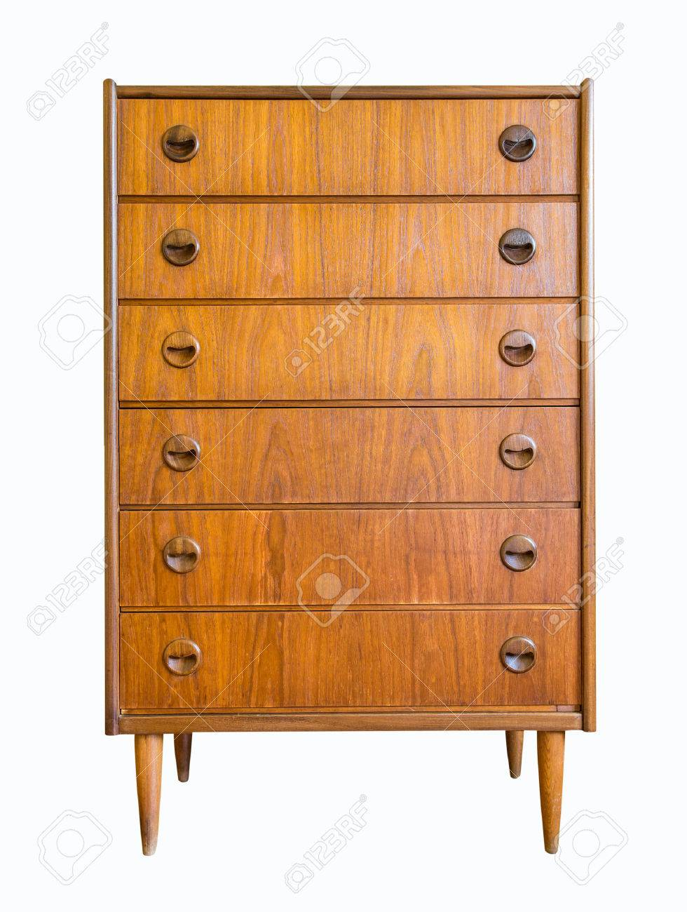 Chest of drawers isolate on white background Stock Photo - 41550273