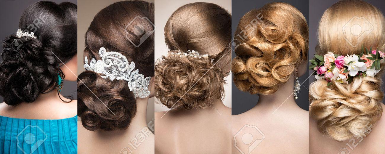 Sammlung Von Hochzeit Frisuren Schöne Mädchen Beauty Haar Foto Im