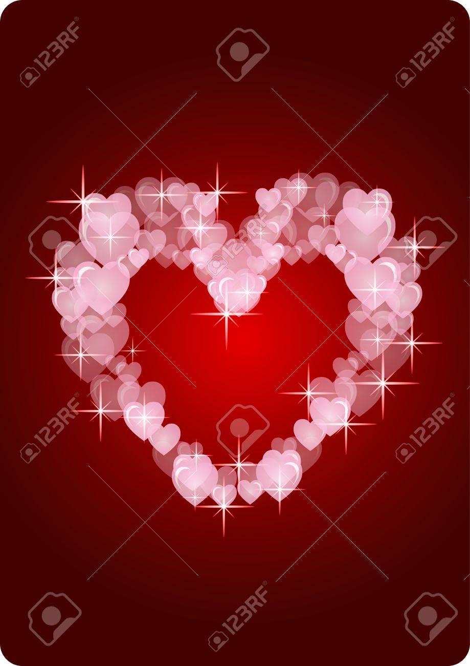 modern hearts card Stock Vector - 17275738