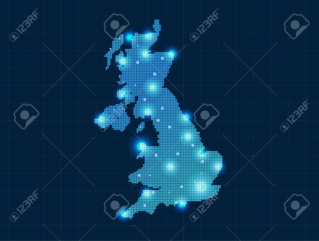 pixel united kingdom map - 20367124
