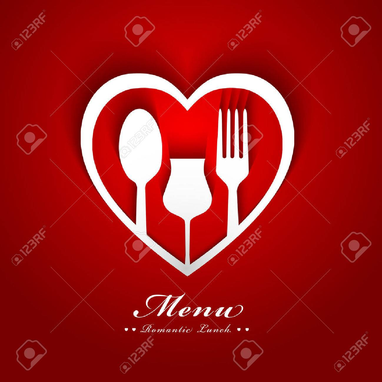 romantic lunch menu design - 24507275
