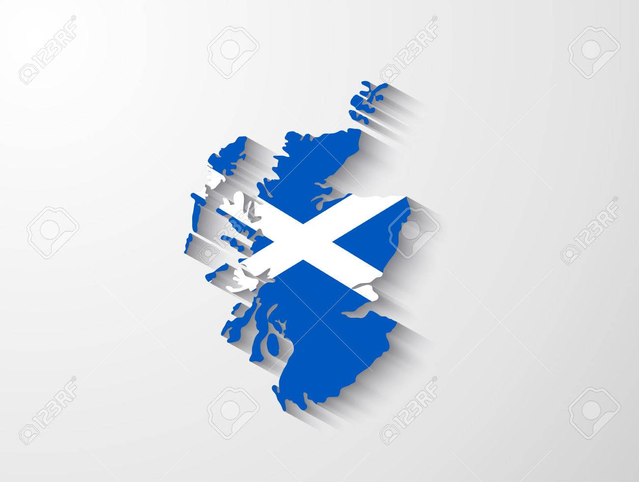 Scotland map with shadow effect - 31482859