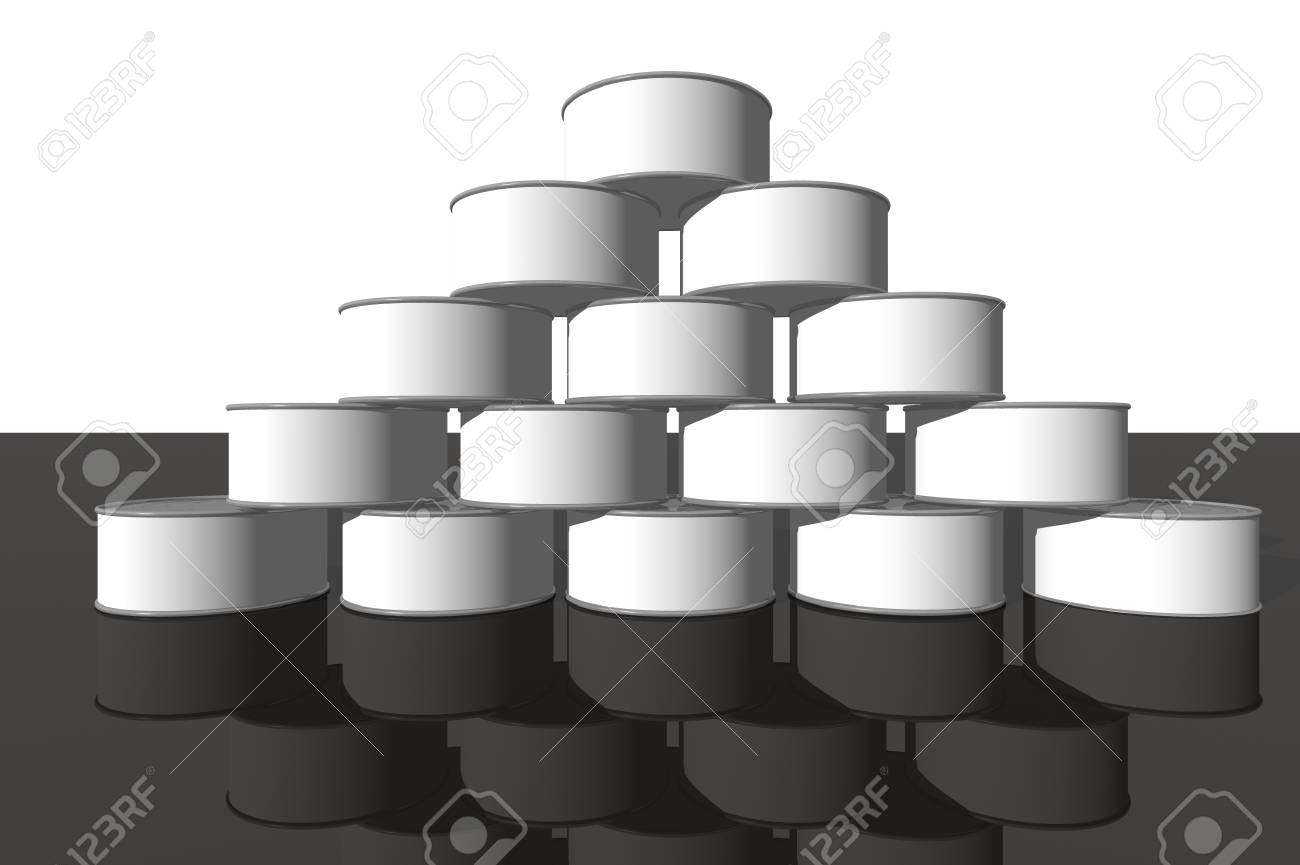 3D render of food cans Stock Photo - 1716197