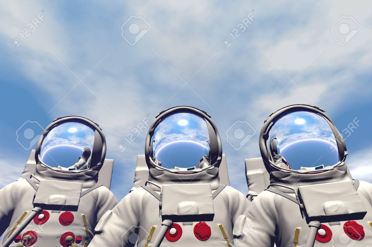 3D render of astronaut Stock Photo - 1716249