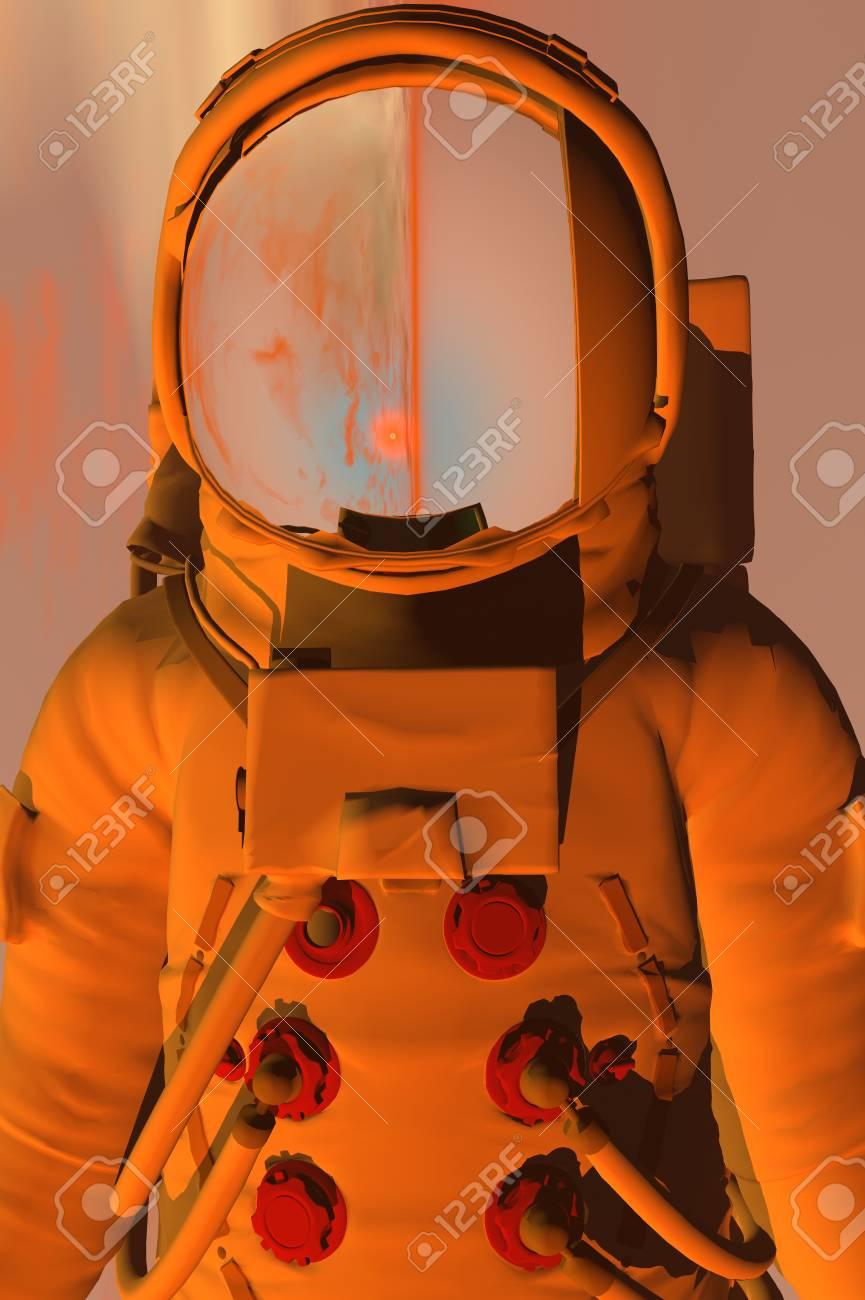 3D render of astronaut Stock Photo - 1716250