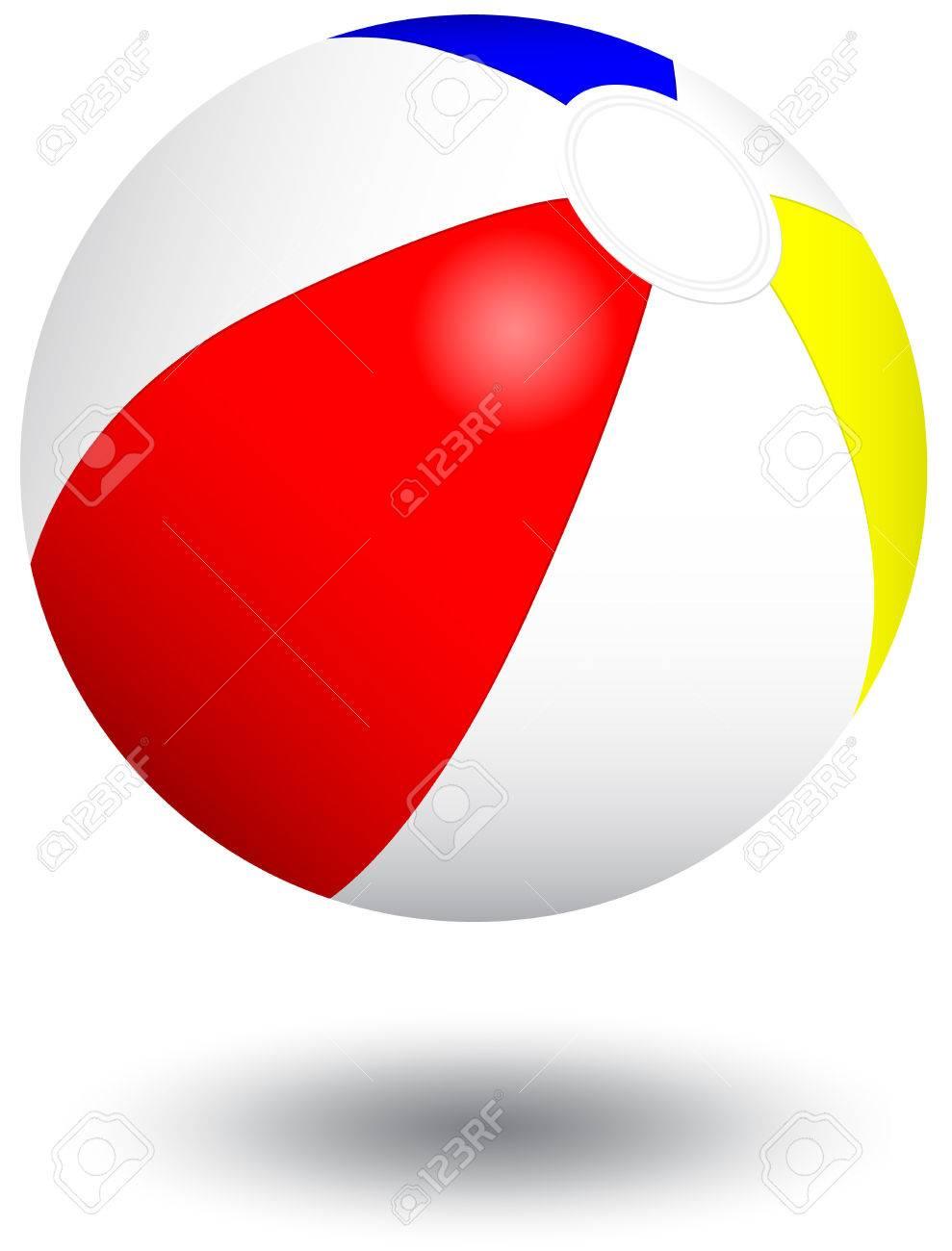 膨脹可能なビーチボール イラスト。 ロイヤリティフリークリップアート