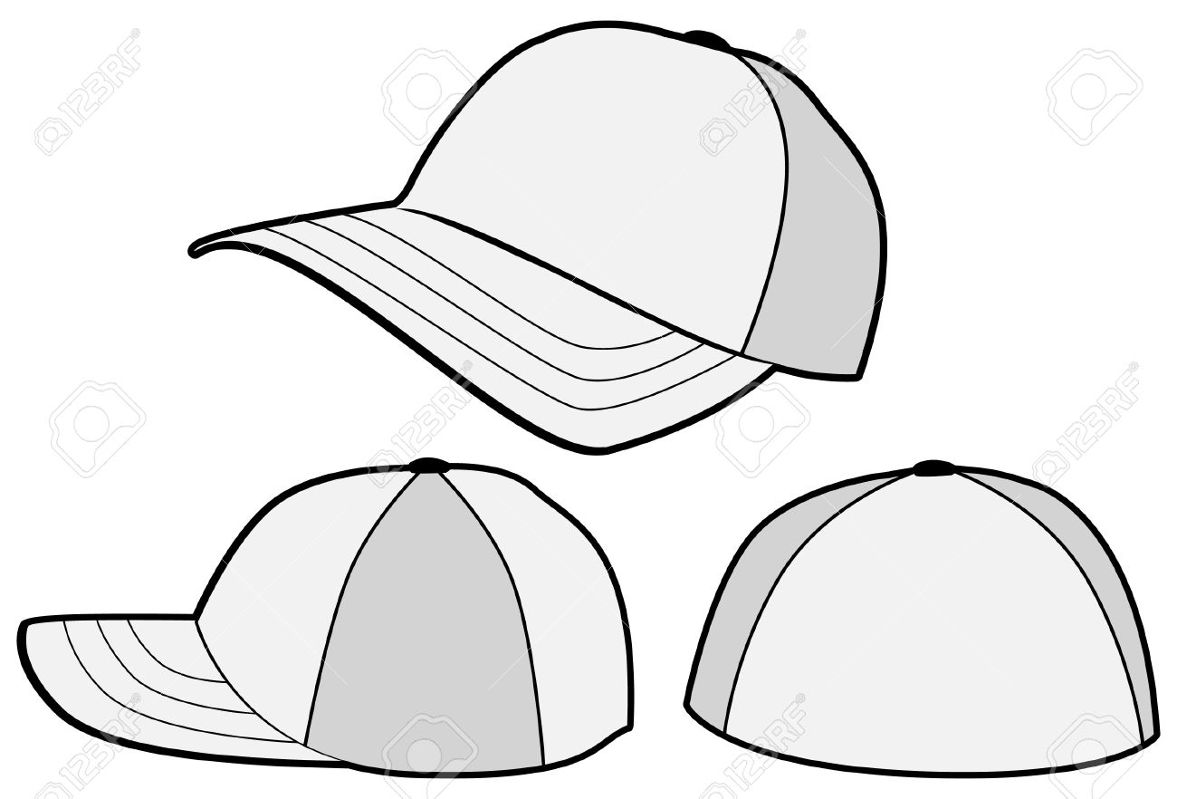 Baseball Hat Or Cap Template. Royalty Free Cliparts, Vectors, And ...