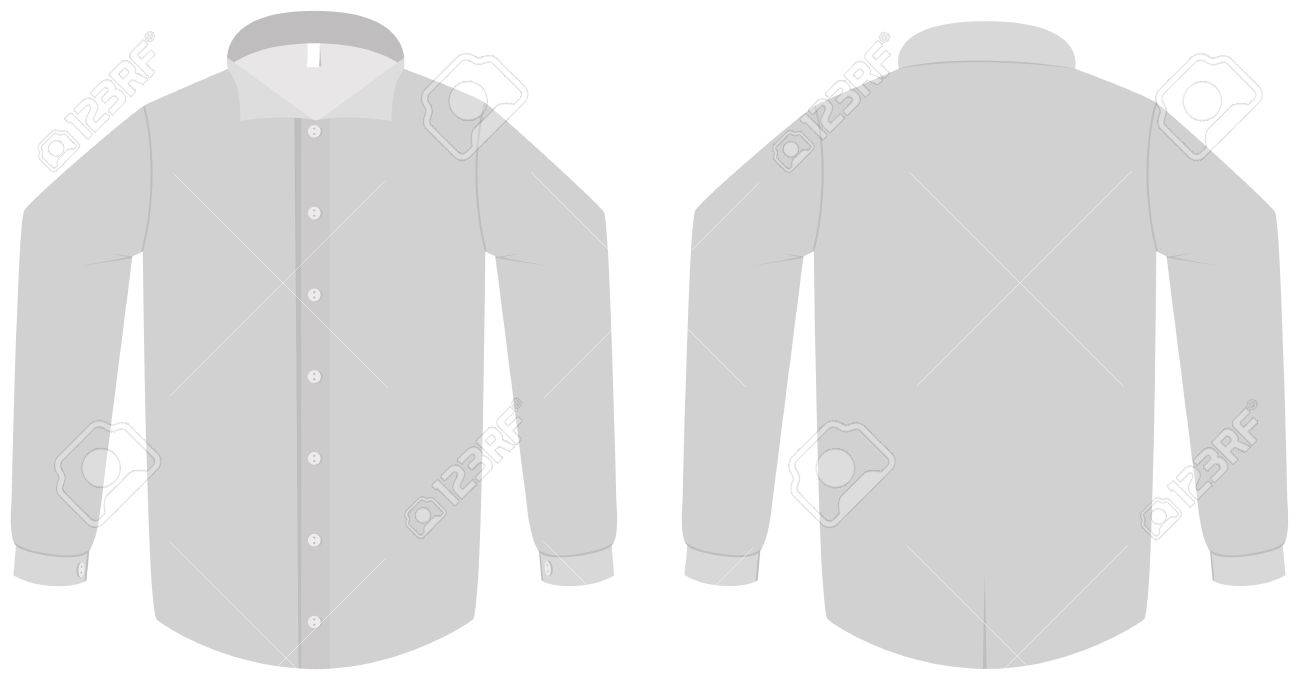 Dress Shirt Or Blouse Template Illustration. Royalty Free Cliparts ...