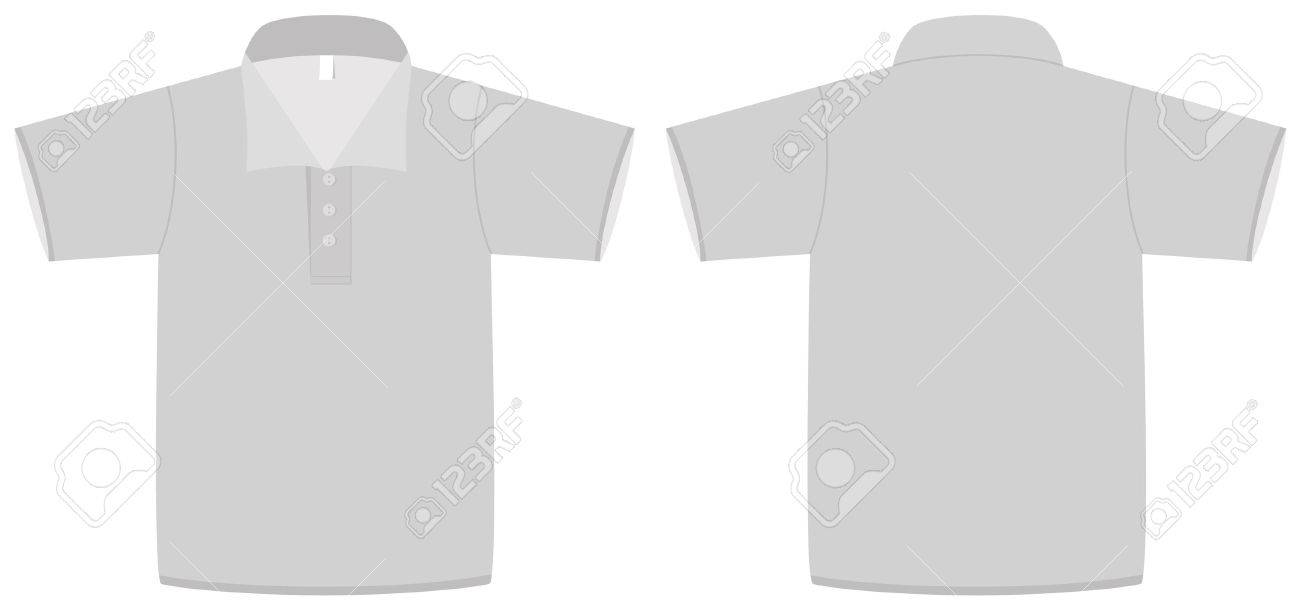 Template Illustration Of A Blank Polo Shirt With Collar. Royalty ...