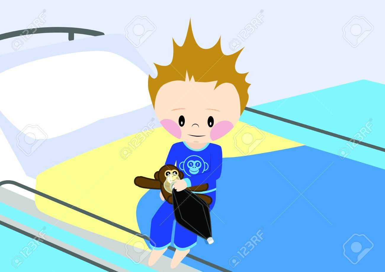Child is getting prepared for operation Stock Vector - 15861415