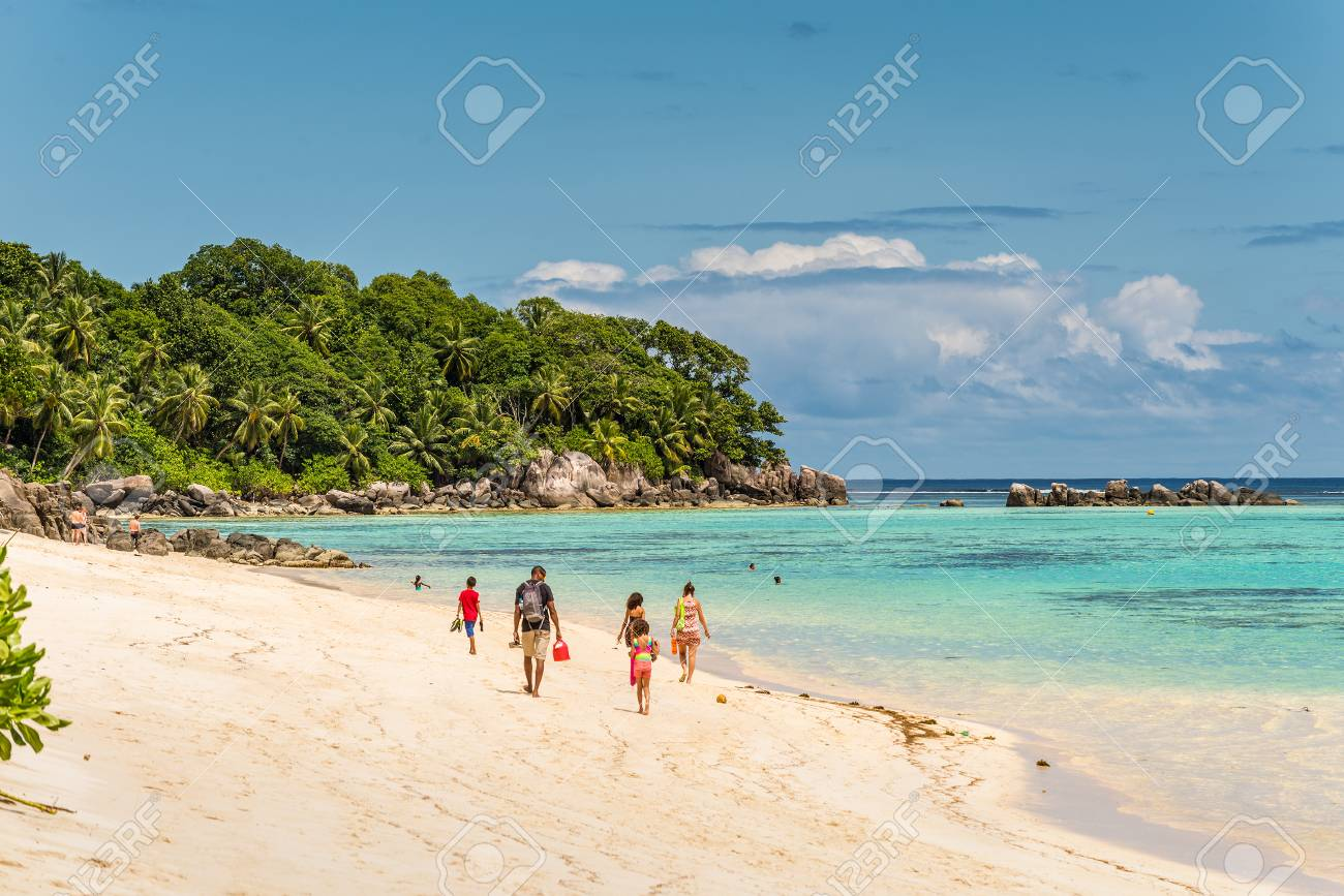 Anse Royale Mahe Island Seychelles December 15 2015 People
