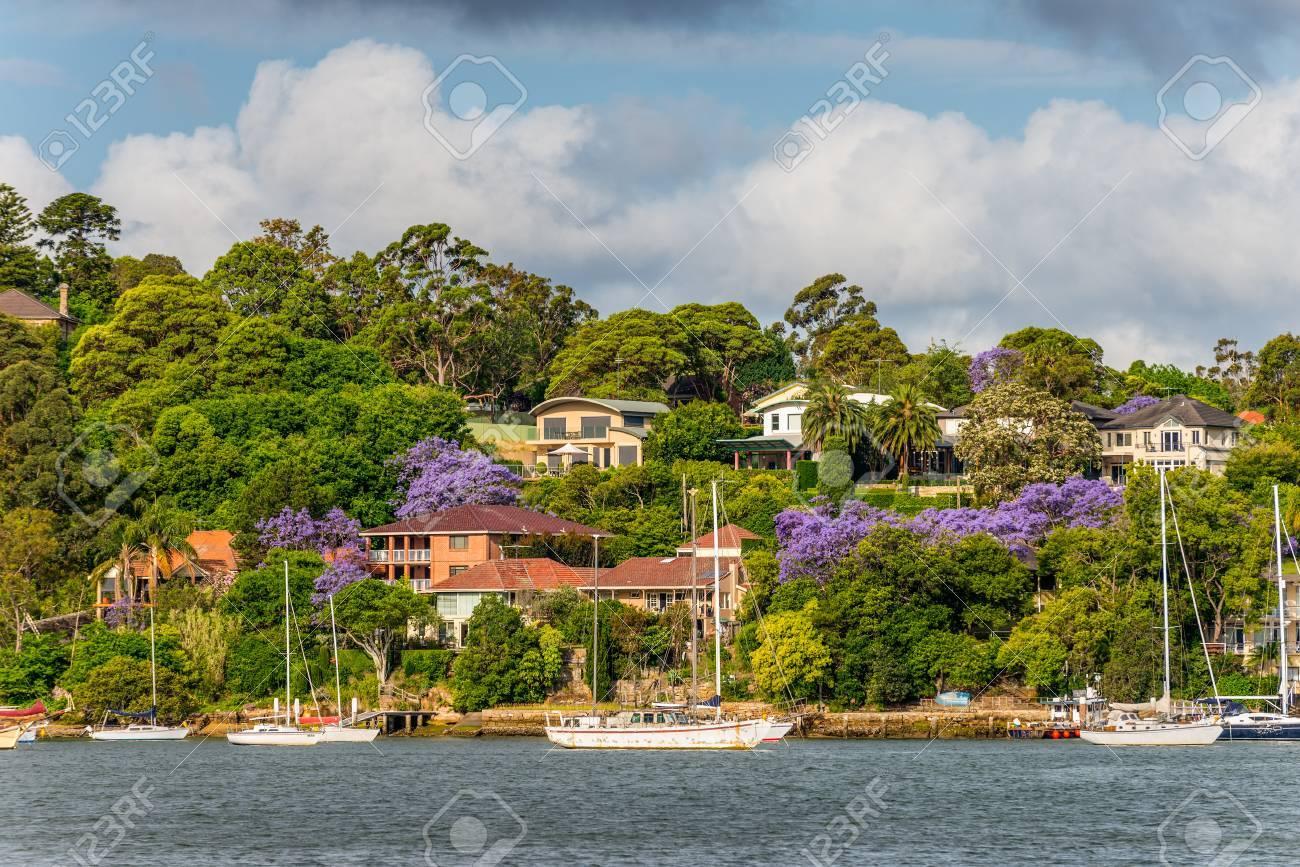 Sydney Australien 10 November 2014 Mansions Am Ufer Des