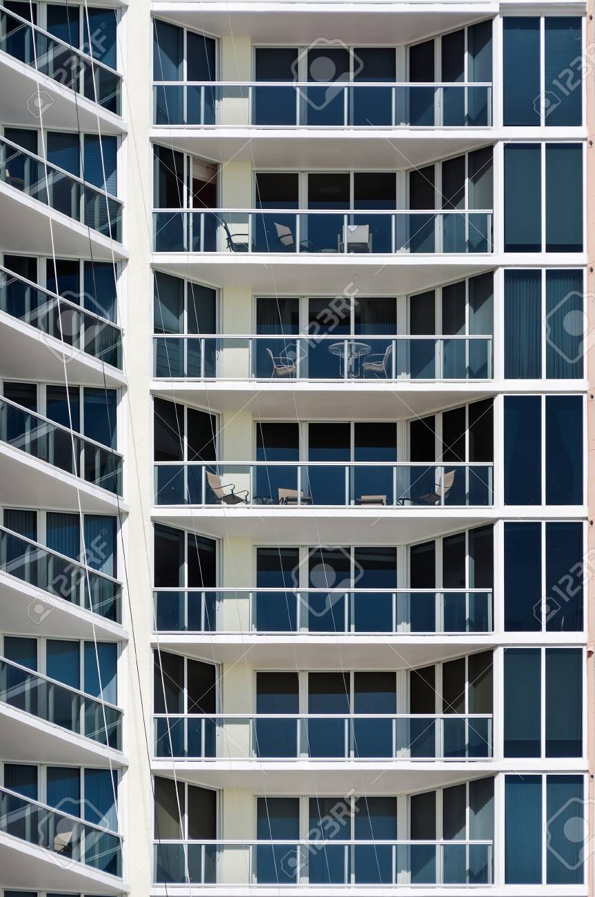 new modern apartment house this is a vertical color photograph of a high rise