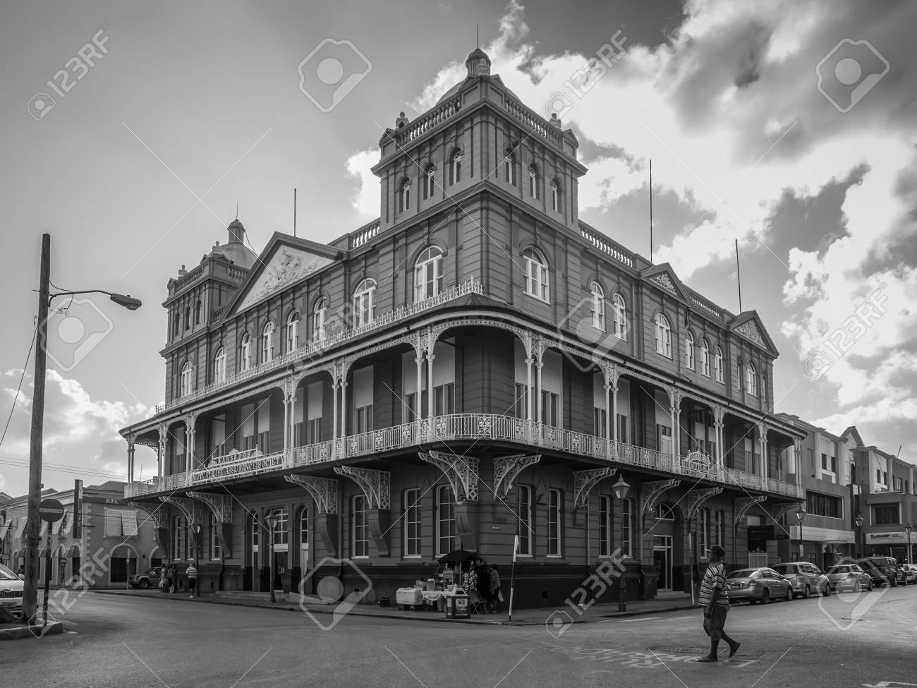 Black and white photography bridgetown barbados december 18 2016 the iconic barbados mutual life assurance building